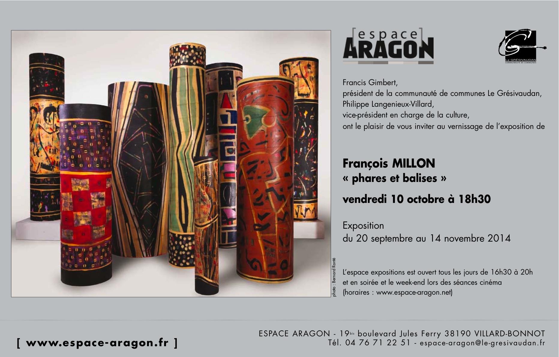 invitation exposition François Millon
